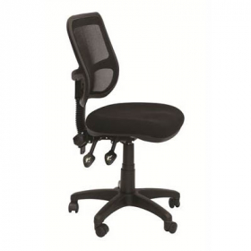 Rapidline operator chair medium mesh back black #RLEM300BK
