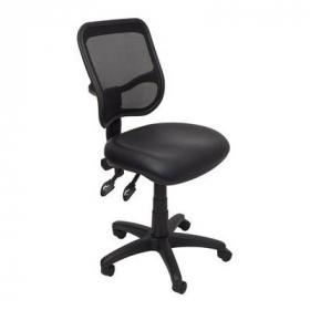 Rapidline operator chair medium mesh back pu black #RLEM300BPU