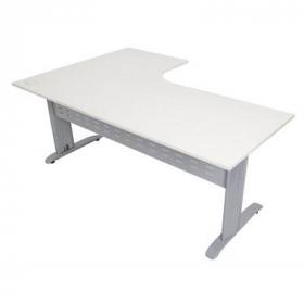 Rapid span corner desk metal modesty panel 1800 x 1200 x 700mm white/silver #RLRSCWS18127MWS