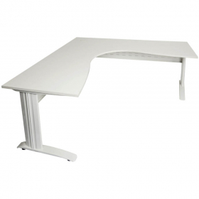 Rapid span corner desk metal modesty panel 1500 x 1500 x 700mm white #RLRSCWS15157MWW