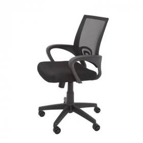 Vesta chair black mesh back with fabric seat black #RLVESTABK