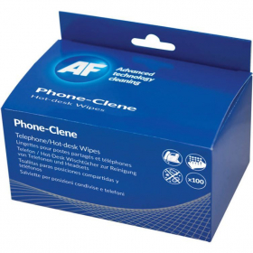 AF telephone cleaning wipes individually wrapped box 100 #AFPHC100