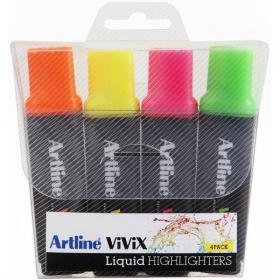 Artline vivix highlighters wallet 4 #AVW4