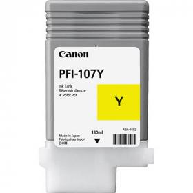 Canon pfi107 inkjet cartridge yellow #CPFI107Y