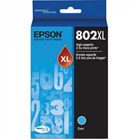 Epson 802 inkjet cartridge high yield cyan #E802XLC