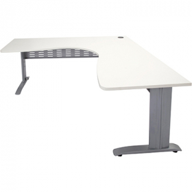 Rapid span corner desk metal modesty panel 1800 x 1800 x 700mm white #RLRSCWS18187MWW