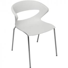 Taurus visitor chair white #RLTAURUSWP