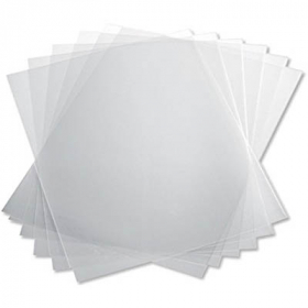 Binding covers 250 micron A4 pack 100 clear #SBCPV250